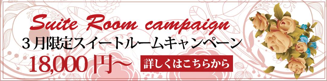 【3月限定】スイートルーム 素泊り特別プラン