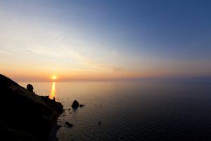 夕日 絶景 小樽 北海道 日本海