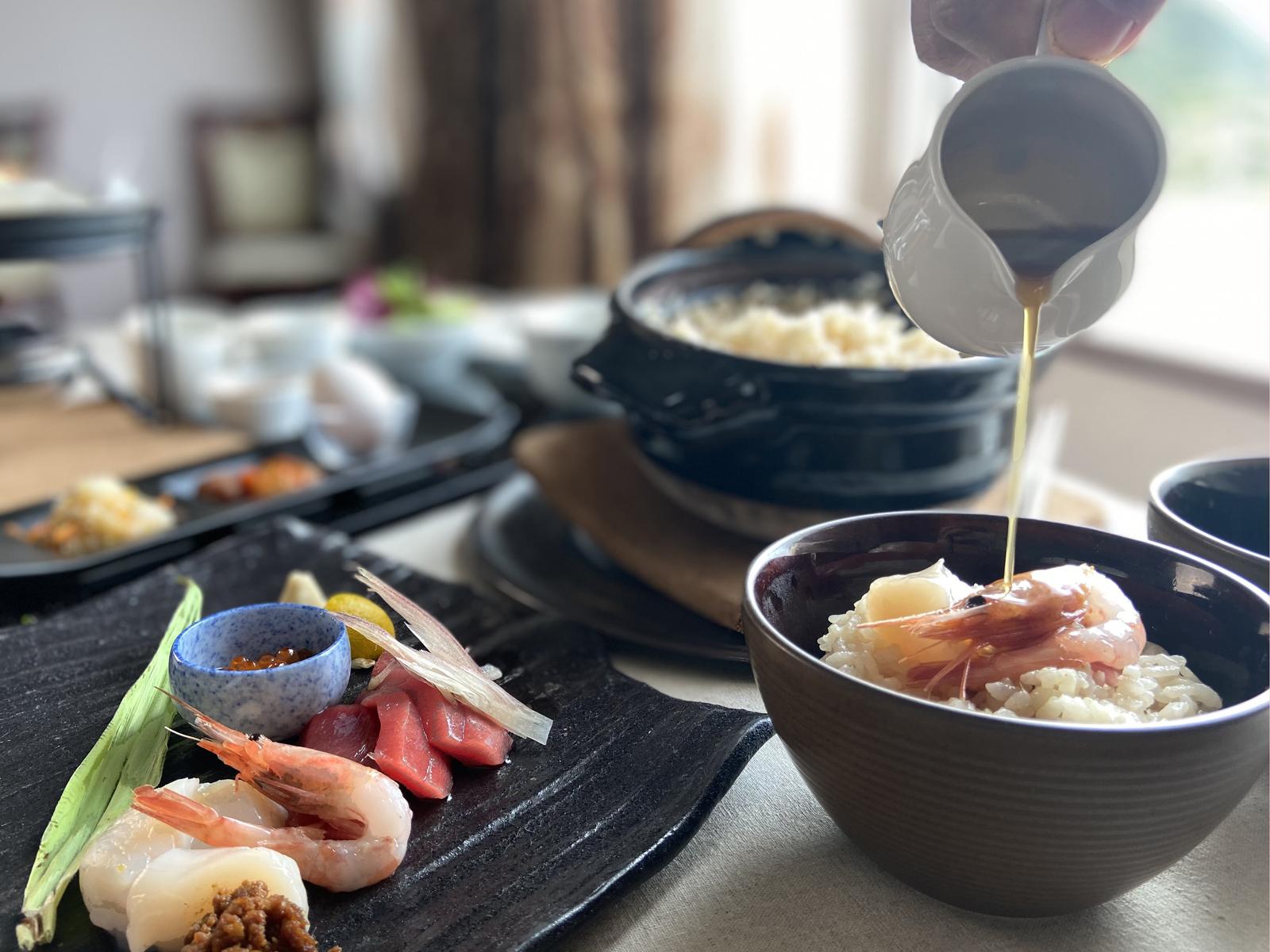 土鍋で食べる海鮮丼 フレンチ 小樽 北海道 ワイン